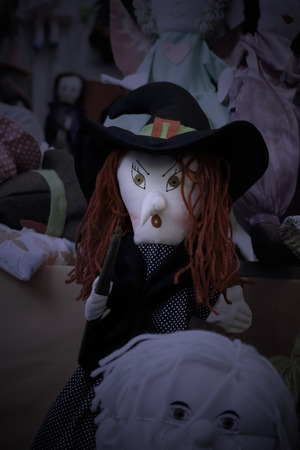Halloween scary rag doll witch photo