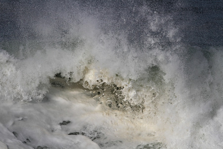 oceanic: Detailed image of a large breaking oceanic wave seeing foam Stock Photo