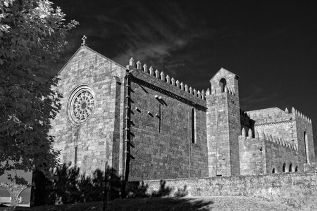 conde: Medieval european abbey. Monastery of Santa Clara in Vila do Conde, Portugal. Used infrared filter.