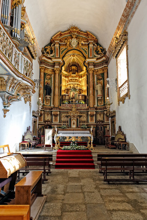 the eighteenth: Amares, Portugal - October 22, 2014: Mountain Marian Shrine of Our Lady of the Abbey from the eighteenth century, north of Portugal.