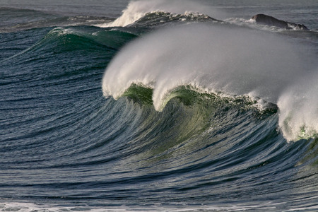 breaking wave: Detailed image of a large breaking wave. North of Portugal. Stock Photo