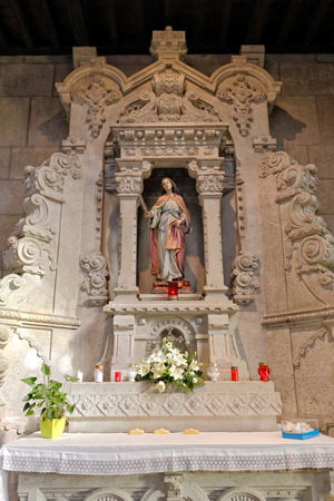 saint lucia: Altar and statue of Santa Luzia, Viana, north of Portugal