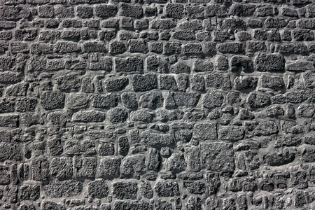 granite wall: Old granite wall from an european medieval palace