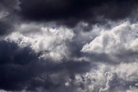 stormy clouds: Strong stormy clouds over Portuguese coast