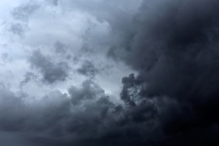 Dark gray and black clouds with some interesting light