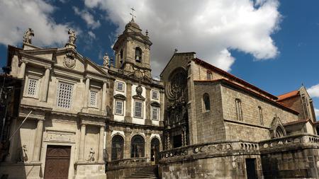 Famous San Francisco church in the center of Porto, Portugal
