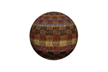 is interesting: Interesting 3D wool ball. Illustration.