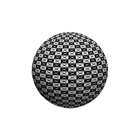 interesting: Abstract 3D sphere with interesting pattern. Illustration. Stock Photo