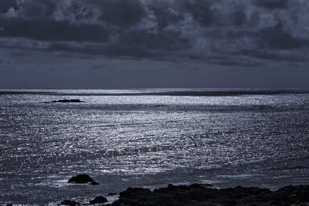 glistening: Glistening sea. Used infrared filter. Stock Photo