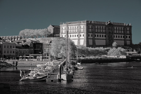 conde: Beautiful marina of the Ave river mouth, Vila do Conde, Portugal Stock Photo