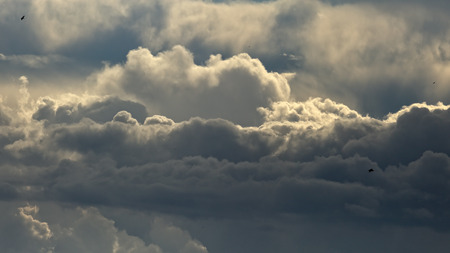 cumulus: Beautiful dramatic stormy clouds panorama