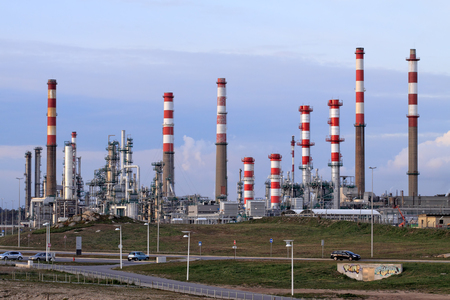 powerplant: Part of a big oil refinery and powerplant