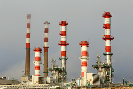 power plant: Part of a big oil refinery and powerplant