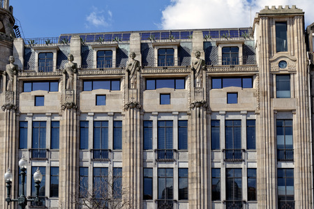 twentieth: Example of modernist architecture from the first half of the twentieth century, Avenida dos Aliados, Porto center, Portugal Stock Photo