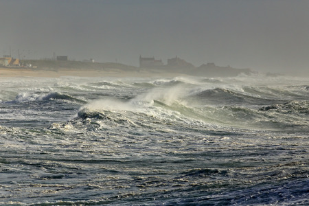 stormy sea: Stormy sea in the northern portuguese coast. Stock Photo