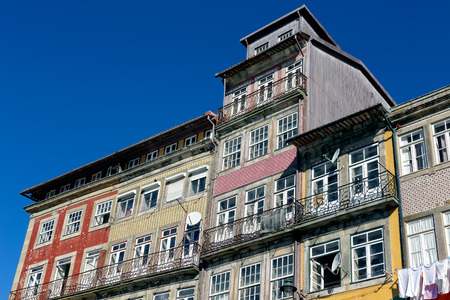 oporto: Traditional old houses from Oporto Ribeira, Unesco site