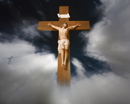 Conceptual image of Jesus Christ on the cross
