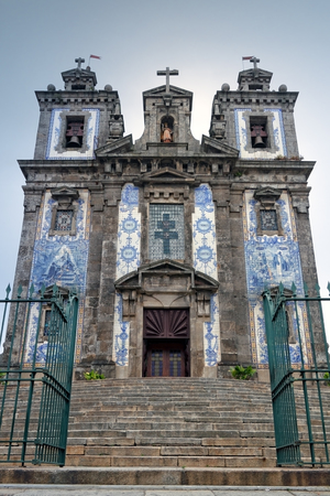 eighteenth: Church of San Ildefonso in the center of Oporto, built in the early eighteenth century and covered by its beautiful and known Portuguese tile panels from artist Jorge Colaco in 1931. Editorial