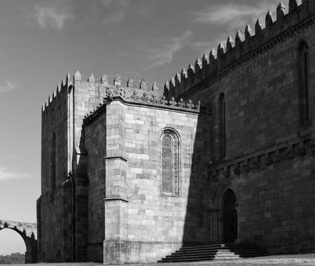 conde: Medieval Abbey of Santa Clara, Vila do Conde, near Porto, Portugal. Converted black and white. Stock Photo