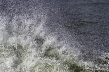 breaking: Big breaking sea wave closeup