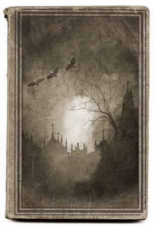 hallowmas: Scary and mysterious old book cover