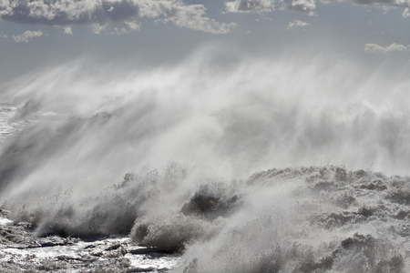 Detailed big stormy breaking wave Banque d'images