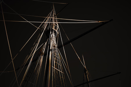 Stylized caravel from the discoveries rigging. Digital working over a photo of mine.