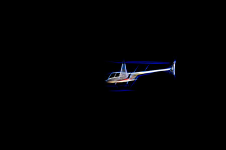 Stylized helicopter in flight. Digital work over a photo of mine.