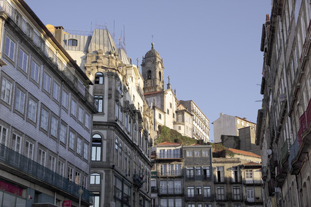 Old Oporto architecture. Early morning light. Stock Photo