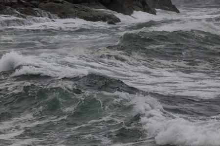 Rough sea detail. Northern portuguese coast. Foto de archivo