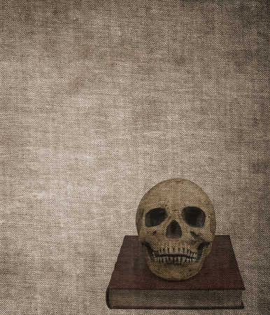 Very old grunge textured burned book cover background Stock Photo