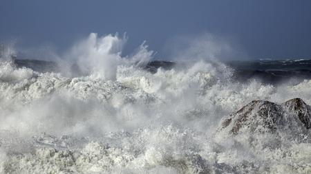Rough sea. Northern portuguese rocky coas.