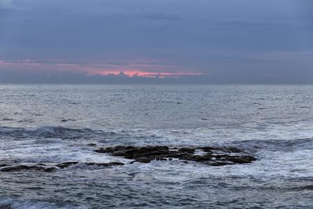 Northern portuguese sea coast at dusk