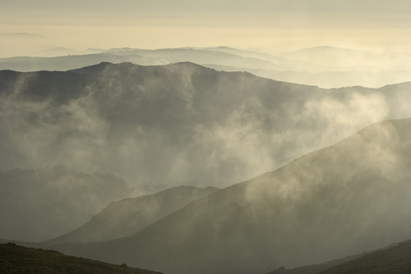 Smoky mountain layers. North of Portugal.