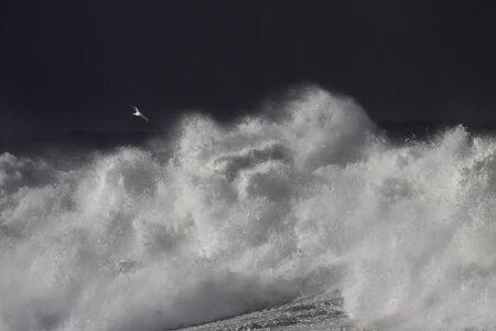 Big stormy waves against dark sky Reklamní fotografie