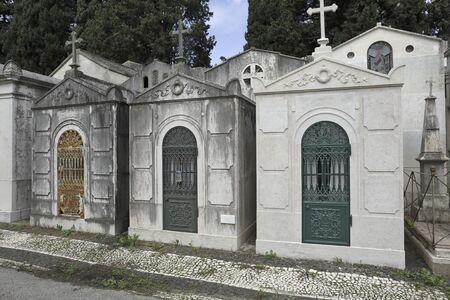 Old european cemetery (Prazeres, Lisbon, Portugal)