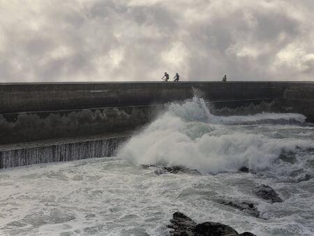 Winter ride by the sea. Northern portuguese coast.