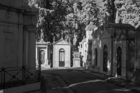 Old european cemetery. Used infrared filter.