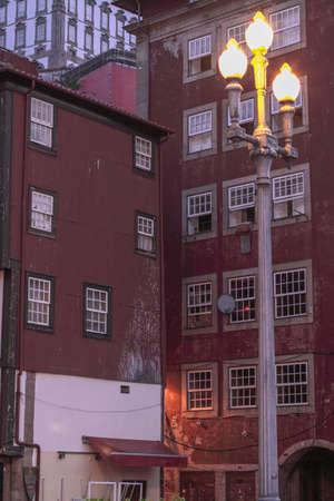 Old Porto architecture at dawn