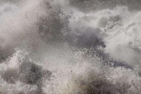 Detailed big stormy sea wave splash Archivio Fotografico