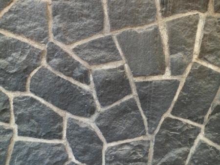 Black stone wall Banco de Imagens