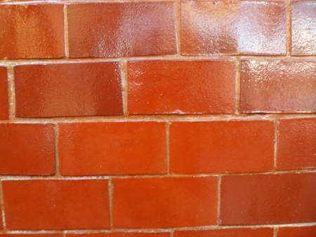 Tinted brick wall