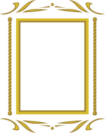 Vector decorative frame. This is a vector image - you can simply edit colors and shapes. Stock Vector - 548996