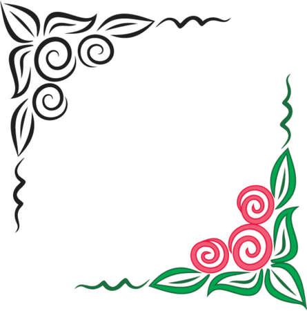 esquineros florales: Vector esquina adornos florales. Este es un vector de imagen - puede simplemente modificar los colores y formas.