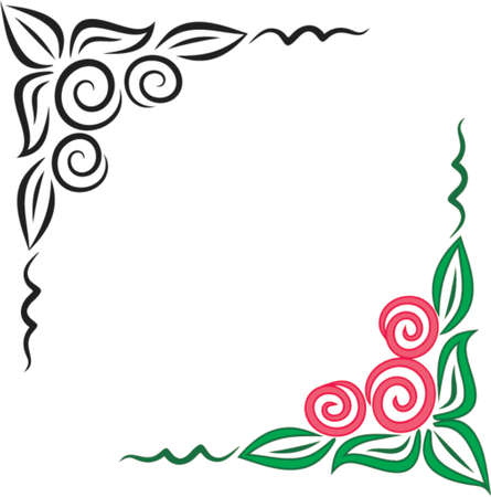 Vector floral corner ornament. This is a vector image - you can simply edit colors and shapes.