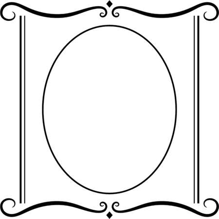 Vector decorative frame. This is a vector image - you can simply edit colors and shapes. Stock Vector - 548997
