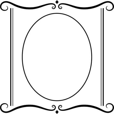 ovalo: Vector marco decorativo. Este es un vector de imagen - puede simplemente modificar los colores y formas.