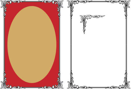 dingbats: Vector decorative frame. This is a vector image - you can simply edit colors and shapes. Illustration