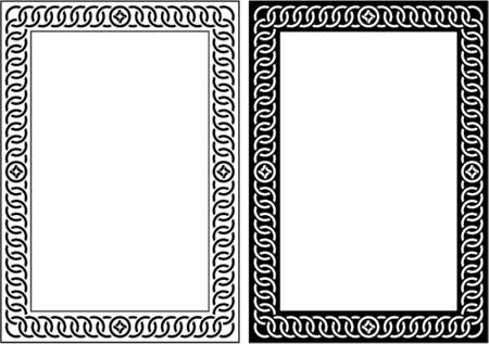 fancy border: Vector decorative frame. This is a vector image - you can simply edit colors and shapes. Illustration