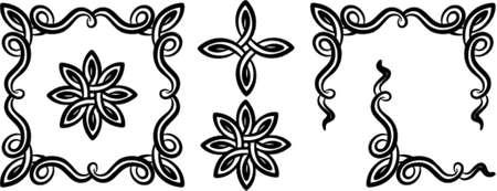 Vector design décoratif éléments. Il s'agit d'un vecteur d'image - il vous suffit de modifier les couleurs et les formes. Vecteurs